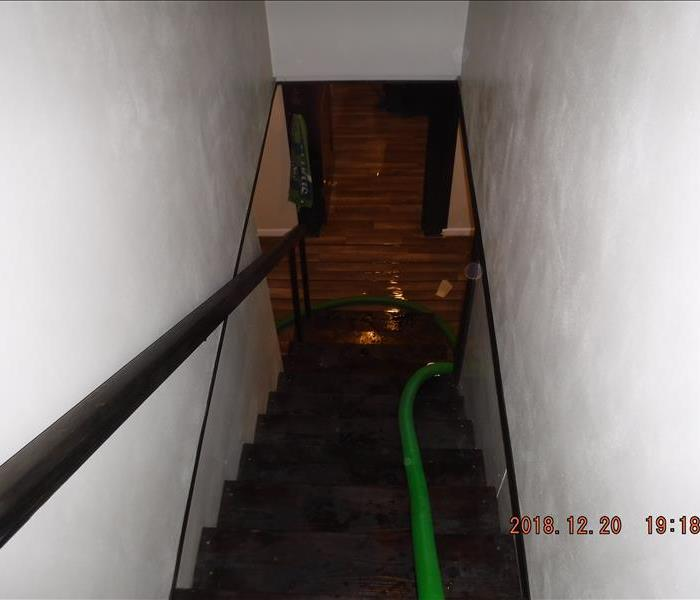 Stairwell and a hose