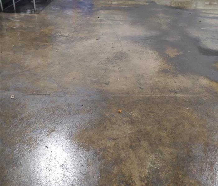 Concrete floor, and materials